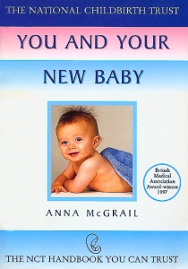 Book cover showing mother and baby